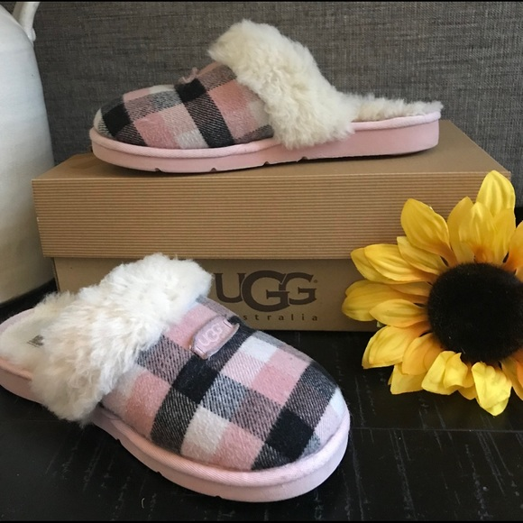 55aa9e4f5 UGG Cozy Flannel Plaid Slipper Shoes. M_5d004fc9abe1ce413c6df365